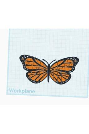 AldımGeldi Hareket Edebilir Monarch Kelebek Dekoratif Süs Eşyası Hediyelik 4