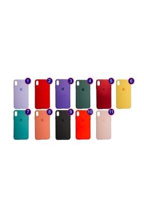Mopal Apple Iphone Xs Max Logolu Mercan Rengi Içi Kadife Altı Kapalı 360° Koruma Silikon Lansman Kılıf 1