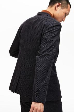 Lacoste Erkek Siyah Ekoseli Slim Fit Uzun Kollu Blazer Ceket 1