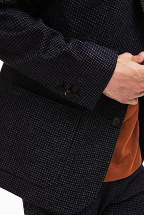 Lacoste Erkek Siyah Ekoseli Slim Fit Uzun Kollu Blazer Ceket 4