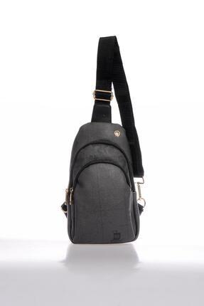 تصویر از Kadın Gri Luxury Sg2112 5 Map Desenli Body Bag