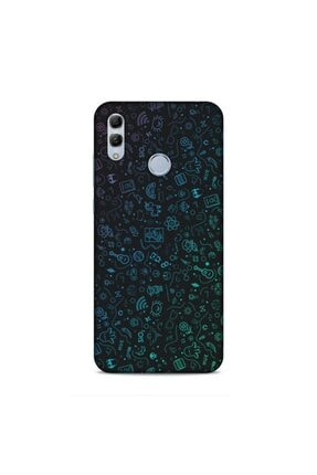 Pickcase Huawei Honor 10 Lite Desenli Arka Kapak Şekiller Kılıf 0
