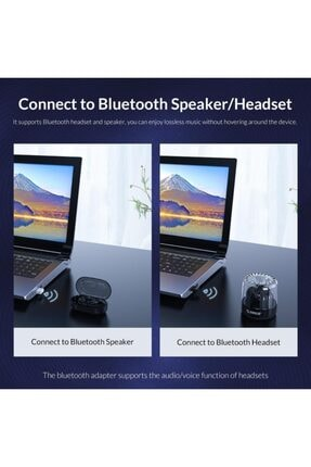 Schulzz Bluetooth Adaptör 5.0 Rtl Mini Dongle Usb Alıcı Verici 3