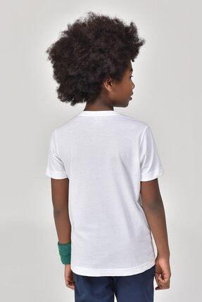 bilcee Unisex Çocuk Beyaz T-Shirt GS-8145 4