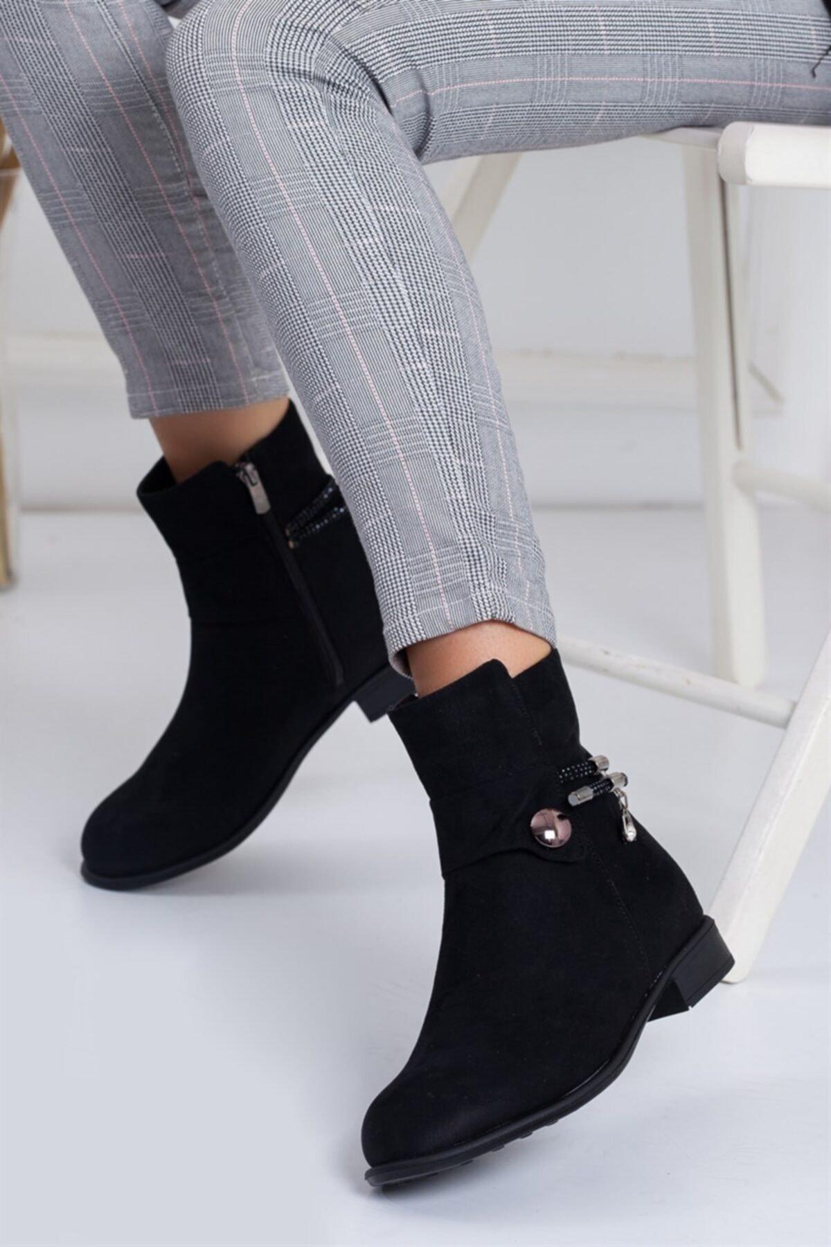 Lovita Shoes Kadın Siyah Bot