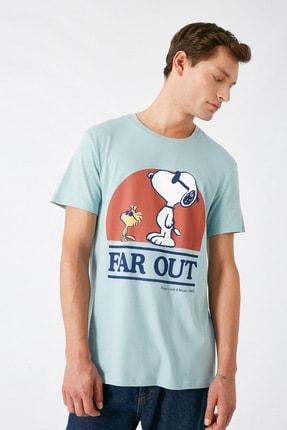 Koton Erkek Açık Mavi T-Shirt 1KAM14181CK 1