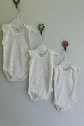 Miniworld Baby Too Düz Çıtçıtlı Zıbın 4'lü Set - Beyaz Üzerine Somon Ayıcık 0