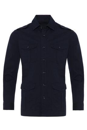 Germirli Erkek Indigo Lacivert Tailor Fit Ceket Gömlek 1