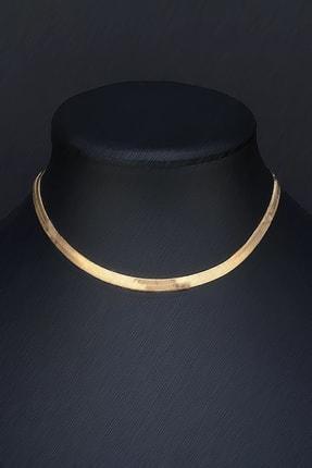 Tmec Silver Gold Renk Gümüş Italyan Yassı Ezme Zincir 0