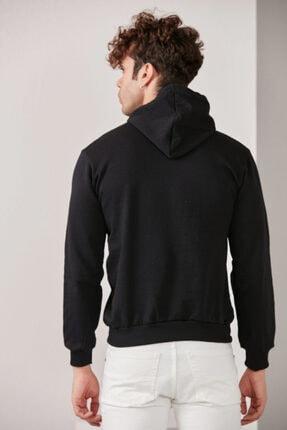 CATSPY Erkek Siyah Kapüşonlu Sweatshirt 4
