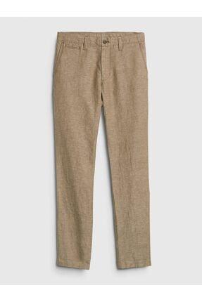 GAP Slim Fit Keten Khaki Pantolon 4