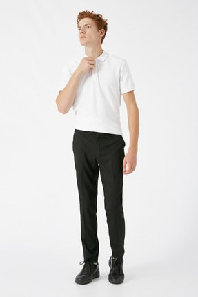 Koton Erkek Siyah Desenli Jeans 1KAM49540KW 0