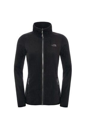 The North Face Kadın Siyah W 100 Glacıer Full Zıp Polar Ceket 0
