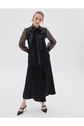Kayra Kadın Siyah Bluz 2