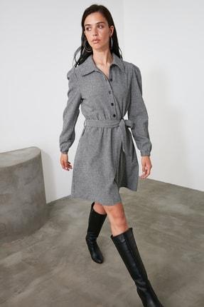 TRENDYOLMİLLA Çok Renkli Kuşaklı Elbise TWOAW21EL2067 1
