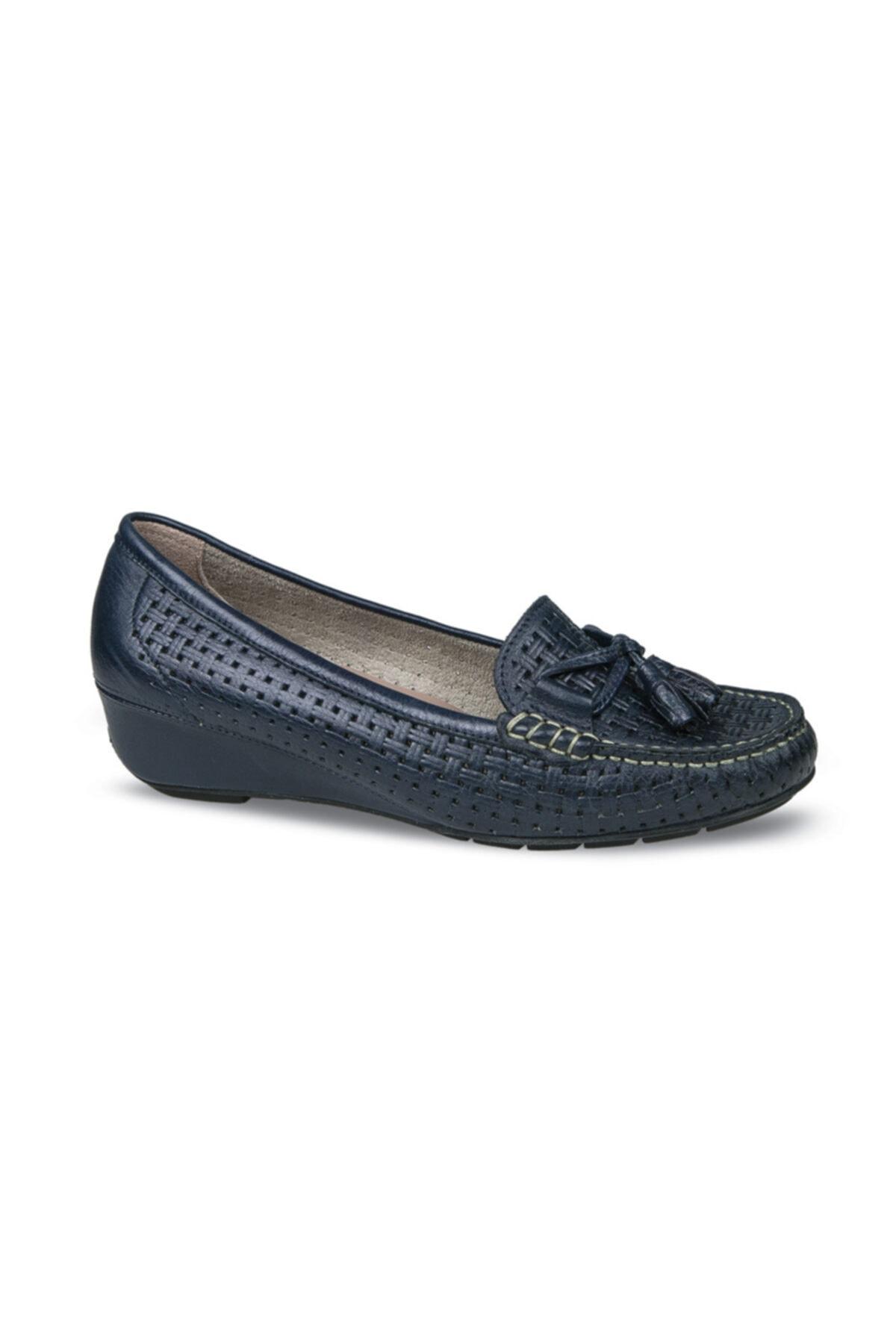 Ceyo Kadın Siyah Tokalı Ayakkabı