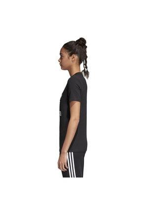 adidas Kadın Siyah Originals T-shirt - Trefoil Tee - CV9888 2