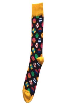 My Socks Renkli Desenli Unisex 7'li Happy Neşeli Çoraplar 4