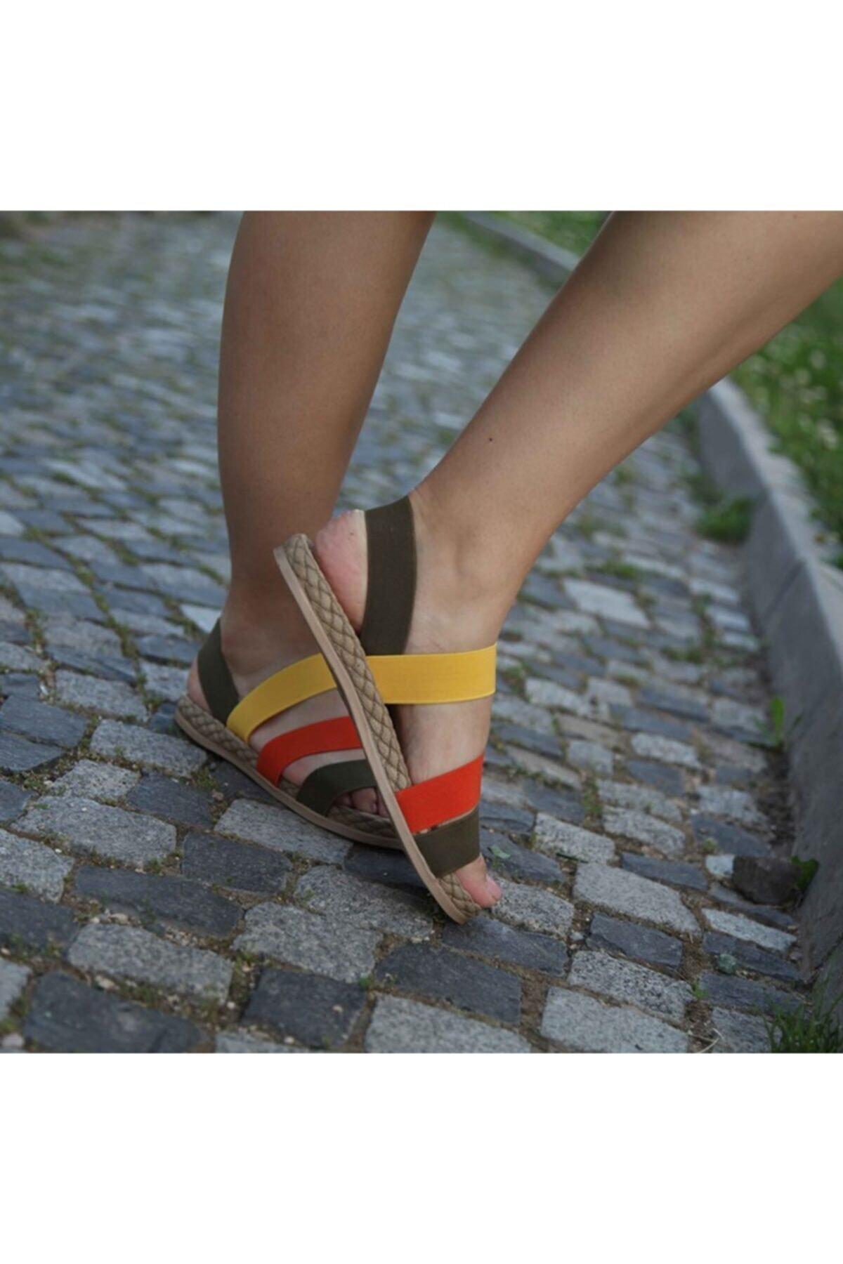 Matilla Kadın Haki Sandalet