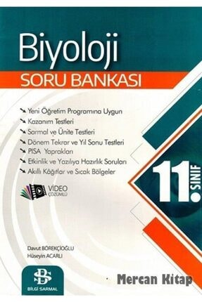Bilgi Sarmal Yayınları 11. Sınıf Biyoloji Soru Bankası 0