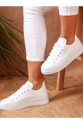 ayakkabıhavuzu Kadın Beyaz Spor Ayakkabı 0