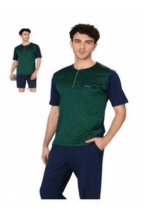 Picture of Erkek Yeşil Yazlık Pijama Takımı  3'lü Set