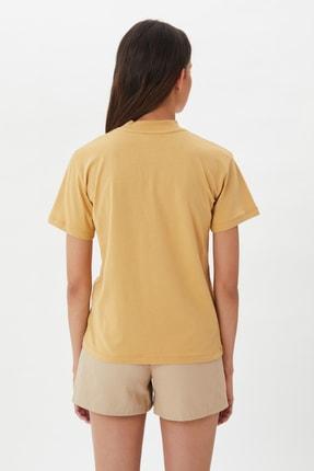 TRENDYOLMİLLA Camel Dik Yaka Örme T-Shirt TWOAW20TS0096 4