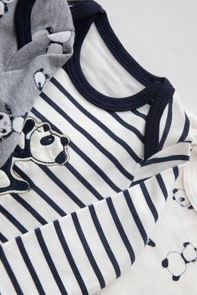 Necix's Erkek Renkli Panda Desenli 3 Set 6 Parça Çıtçıtlı Takım 3