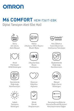 Omron M6 Comfort Hem-7360-e Dijital Koldan Ölçer Tansiyon Aleti 3