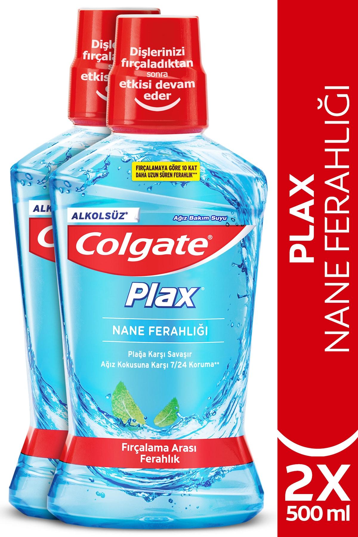 Plax Nane Ferahlığı Plağa Karşı Alkolsüz Ağız Bakım Suyu 500 ml x 2 Adet
