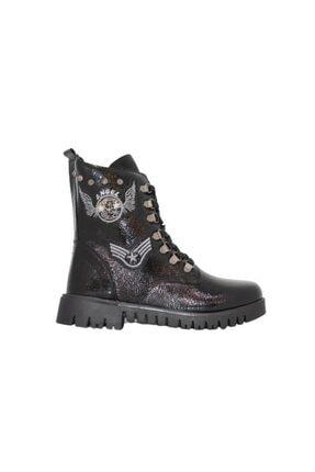 Unisex Siyah Deri Çizme resmi