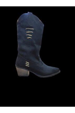 Kadın Siyah Süet Kovboy Çizme resmi