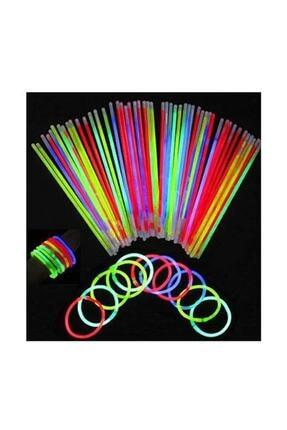 Pandoli Neonlu Glow Stick Çubuk 50 Adet Karışık Renkli 0