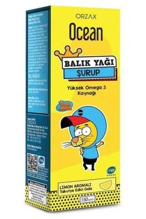 Orzax Ocean Omega3 Limon Aromalı Balık Yağı Şurup 150 ml 0