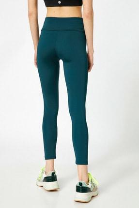 Koton Kadın Yeşil Düz Renk Tayt 3
