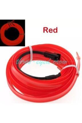 BALP Kırmızı Renk Fitilli Ip Neon Led Torpido Şeridi 2 Metre Dekoratif Led 1