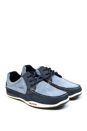 00103 Erkek Lacivert Hakiki Deri Marine Ayakkabı resmi