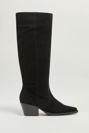 Picture of Kadın Siyah Topuklu Deri Çizme