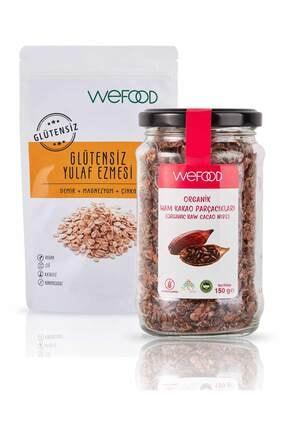 Wefood Glütensiz Yulaf Ezmesi 300 gr + Organik Ham Kakao Parçacıkları 150 gr 0