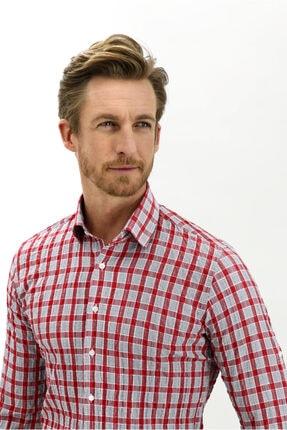Kiğılı Uzun Kol Ekose Slim Fit Gömlek 0