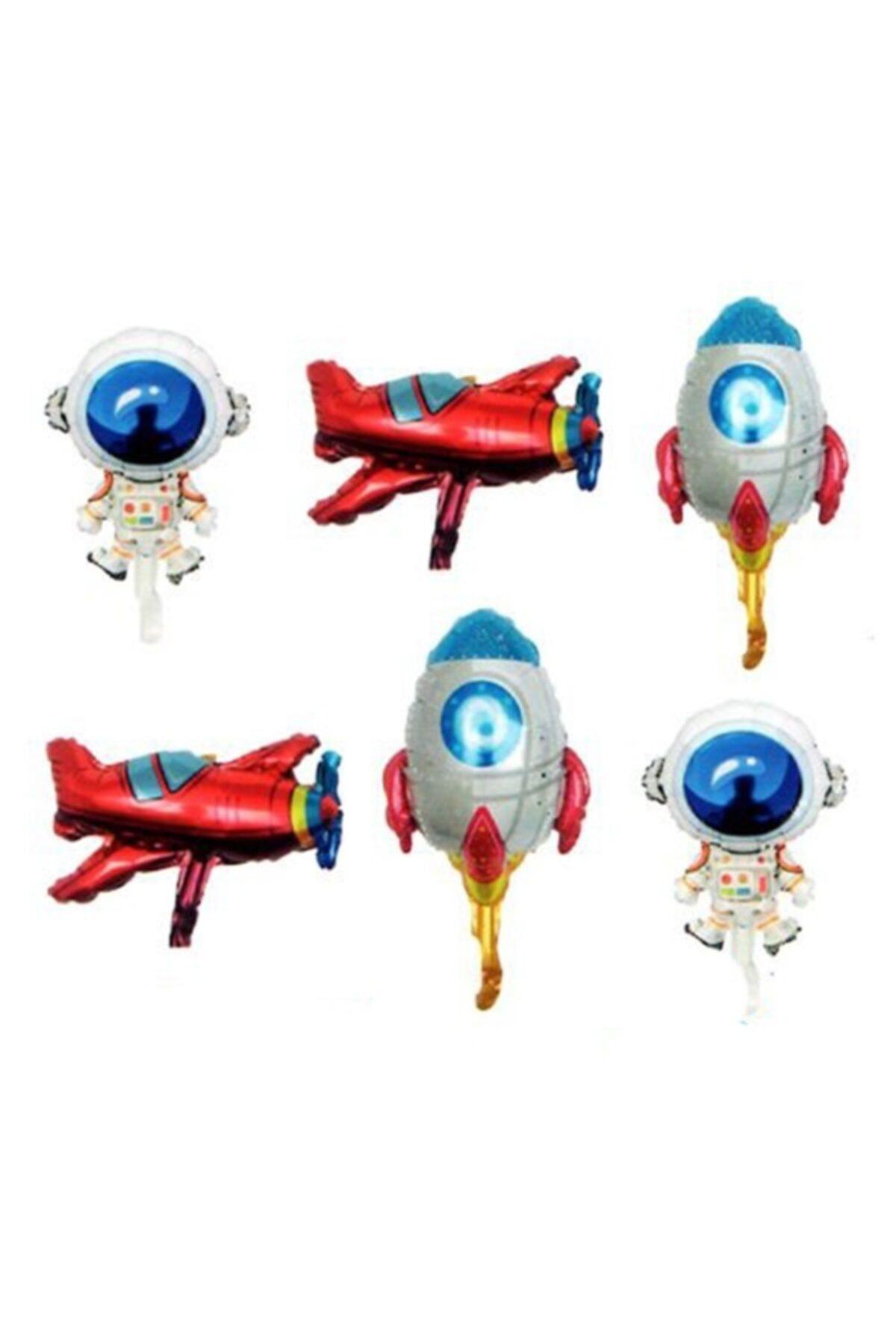 Uzay Konsepti 6 Lı Folyo Balon Seti - 14 Inch