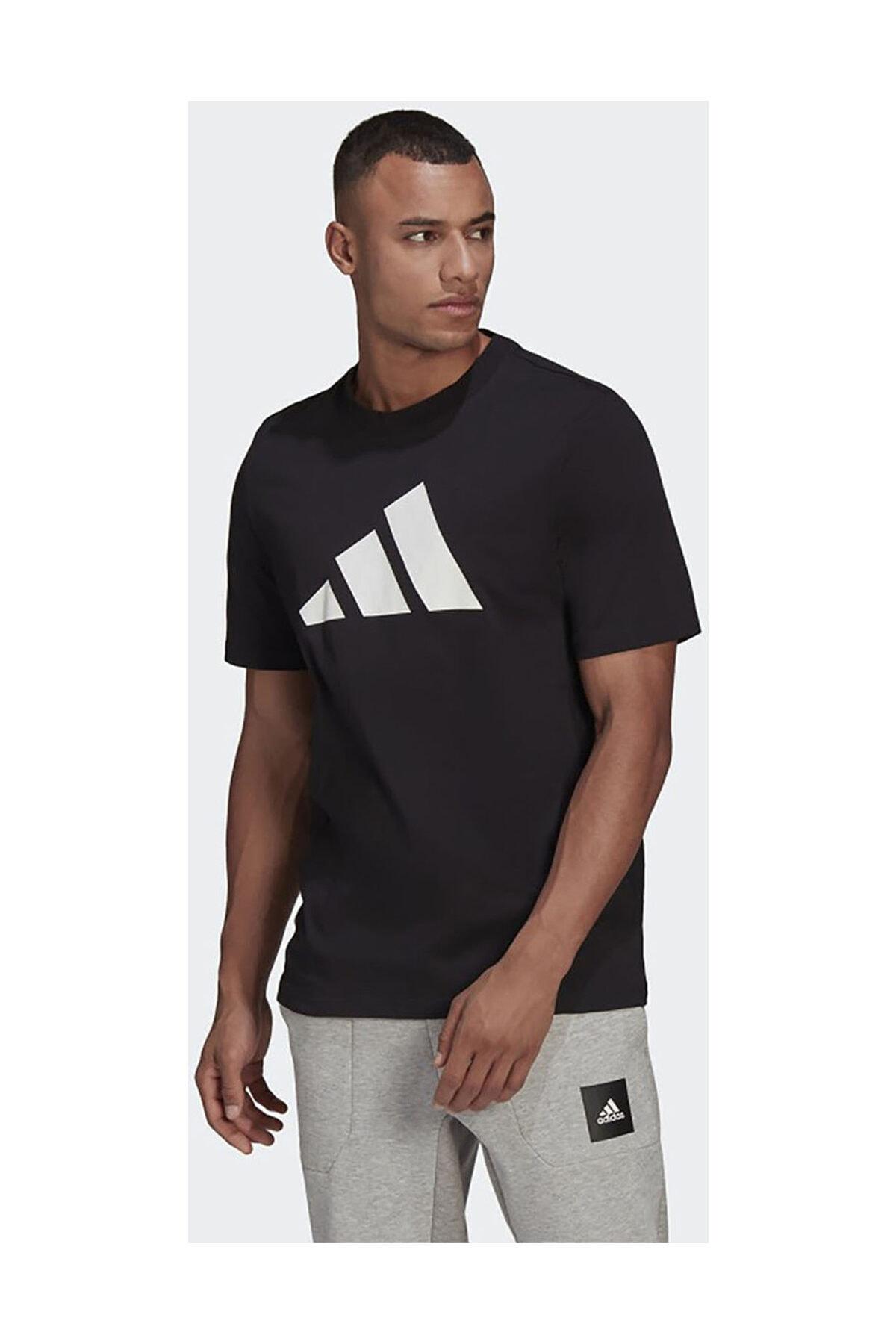 Erkek Siyah Günlük T-shirt Gp9503