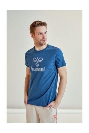 HUMMEL Admir Mavi Kısa Kollu Erkek T-Shirt 0