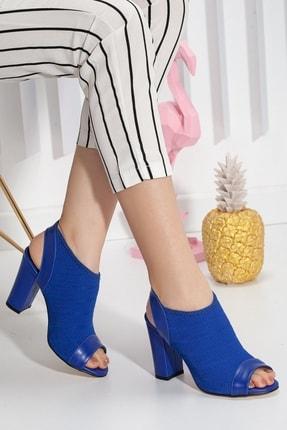 Kadın Mavi Topuklu Ayakkabı P29689S9161