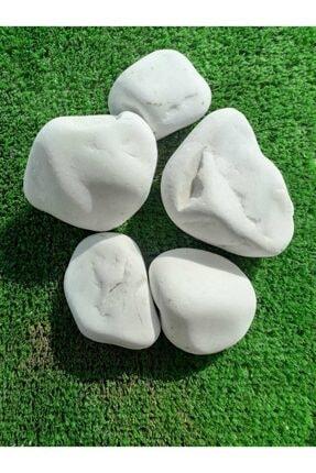 Ekodoğa Dekoratif  Beyaz Dolomit Taş 30 kg 4-6 cm 3
