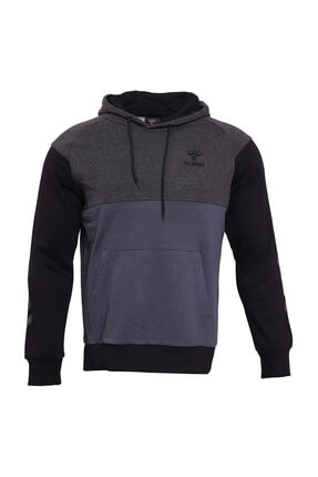 HUMMEL Fred Kapüşonlu Gri Erkek Sweatshirt 1