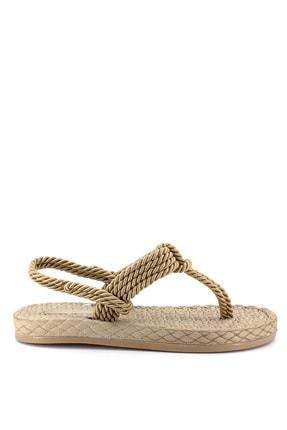 Kadın Altın Sandalet 21YZ06ZE