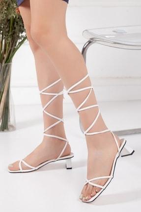 Kadın Topuklu Ayakkabı 3 cm bağcıklı