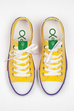 Odal Shoes Unisex Sarı Ortopedik Şeritli Sneakers Cnvrs3579746 4