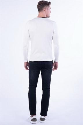 Efor TR 791 Slim Fit Beyaz V Yaka Triko 2